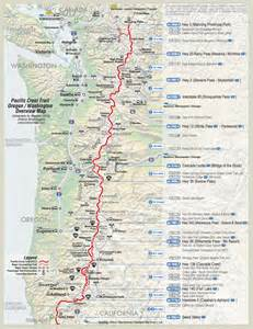 pacific crest trail oregon map detailed pct maps derek caitlin s 2015 pacific crest