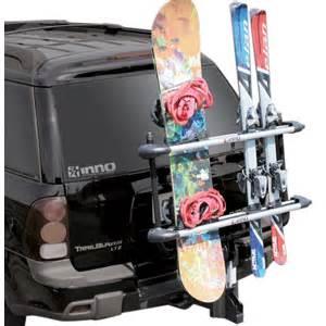 inno 4 pair ski 4 snowboard 2 bike hitch mount rack 37