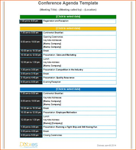 7 conference program template bookletemplate org