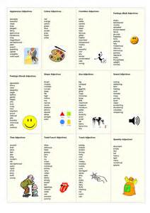 adjective list list of adjectives and key stage 1 on