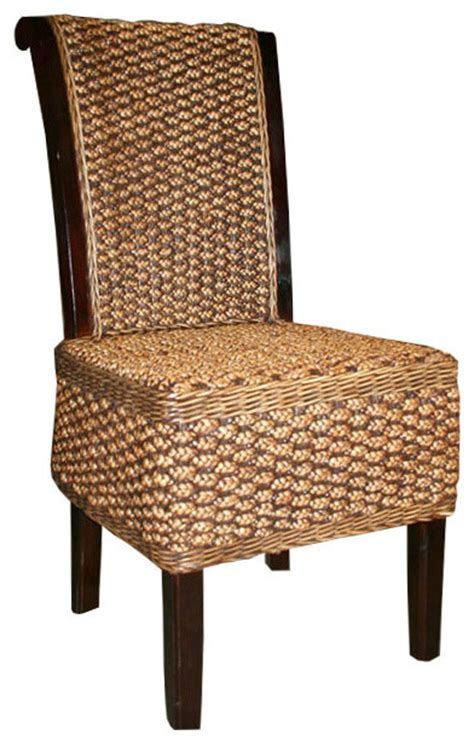 Water Hyacinth Dining Chairs Water Hyacinth Soldano Side Chair Style Dining Chairs By Chic Teak
