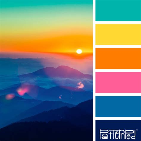 sunset color scheme color combo bright and beautiful range match a