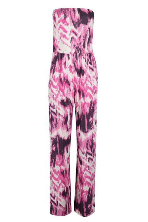 Jumpsuit Palazzo Floral womens stripes floral jumpsuit boobtube bandeau