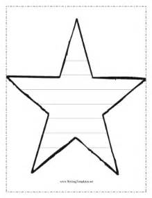 star writing template writing template