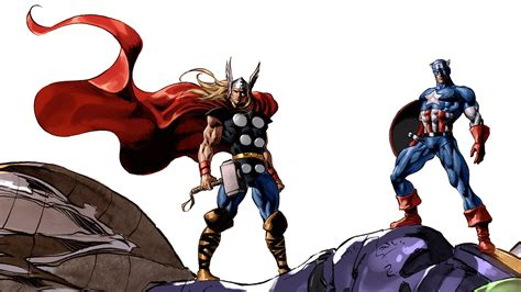 captain america thor ironman wallpaper comics thor captain america marvel comics wallpaper