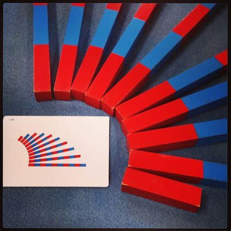 printable montessori rods montessori math number rods extension using nienhuis