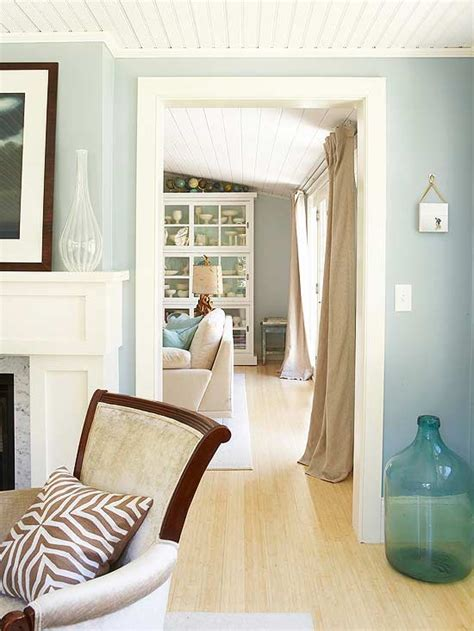 light blue and brown living room coastal paint color schemes inspired from the beach