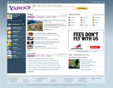 Home Page by The Look At The New Yahoo Homepage Redesign Apps