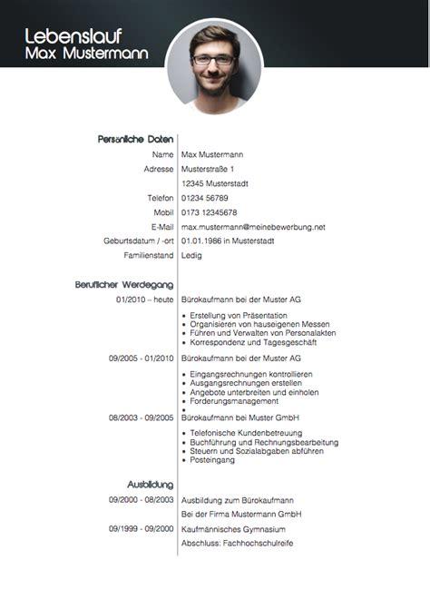 Modell Lebenslauf Auf by Lebenslauf Muster 2018 Meinebewerbung Net
