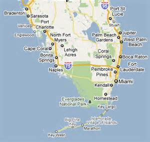 map of south florida and local southwest florida diving scuba outfitters naples