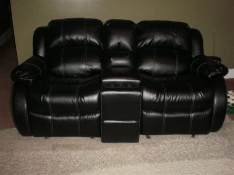 Black Leather Sofa And Love Seat Recliners Cincinnati