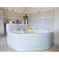 baignoire d angle l 140x l 140 cm blanc sensea access