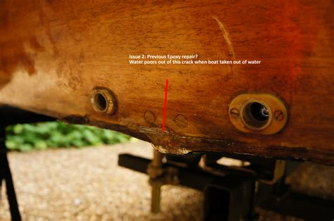 wooden boat leaks advice on leaky transom hull join early signs of rot