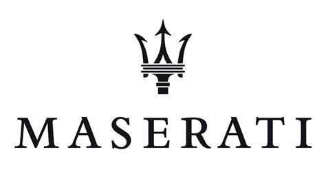 maserati logo white maserati logos download
