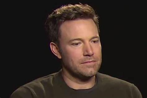 sad celebrity interviews sad ben affleck video goes viral as star is asked about