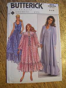 sewing pattern vintage 1960s neo victorian nightgown