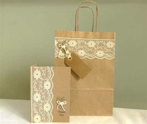 Brown Paper Thank You Cards