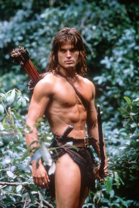 actress in tazan does not know where tarzan goes casper van dien in tarzan male celebrity photos