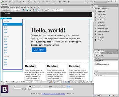 layout editor bootstrap dmxzone bootstrap to be released next week dmxzone com