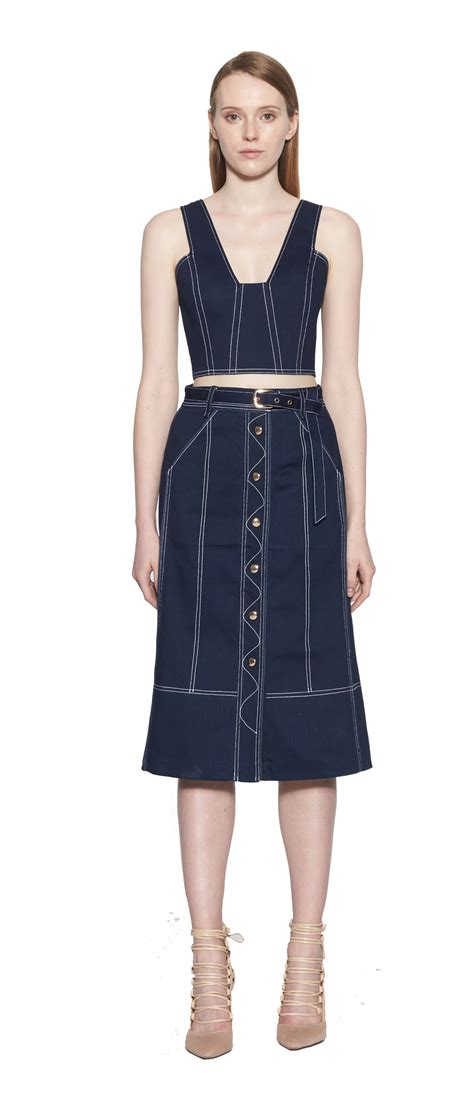 Verona Skirt White verona denim skirt