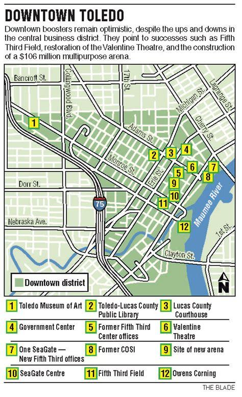 zip code map toledo ohio loss of firms jobs vexes central toledo business