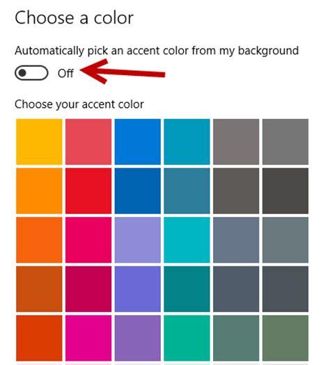 accent color windows 10 change the theme accent color