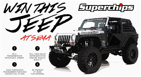 Jeep Giveaway - jeep giveaway 2014 sema show with superchips and transamerican auto parts