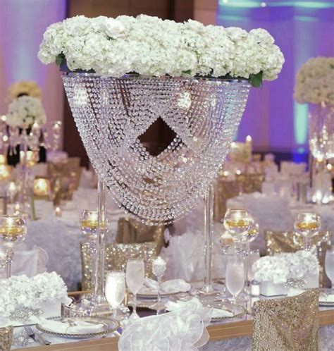 Chandelier Decorations For Wedding 80cm Acrylic Table Centerpiece Wedding Chandelier Flower Stand Wedding Decoration