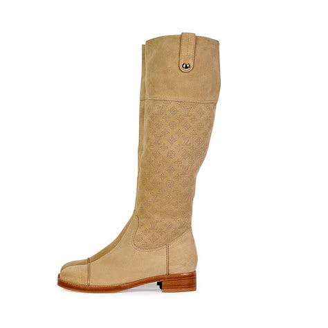 louis vuitton mahina suede boots s 39 6 new luxity
