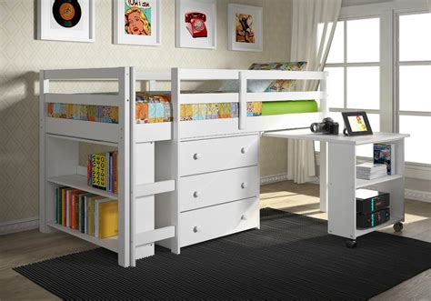 bunk beds with storage and desk size loft bed with desk and storage small wardrobe