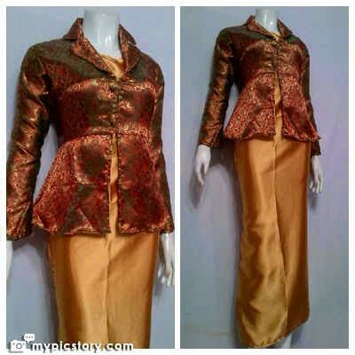 Kemeja Songket Velvet Gold 1 model dress batik terbaru giordani series batik bagoes