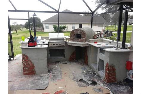 another outdoor kitchen with our wood fired oven outdoor kitchen with wood fired pizza oven