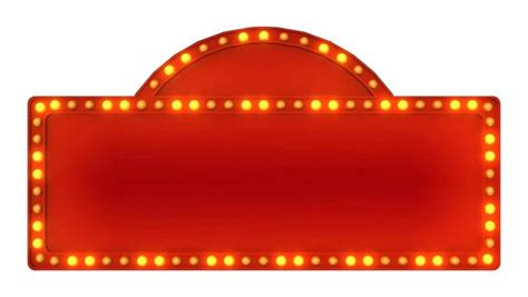 marquee lights marquee board marquee light board sign retro on white background rendering stock footage