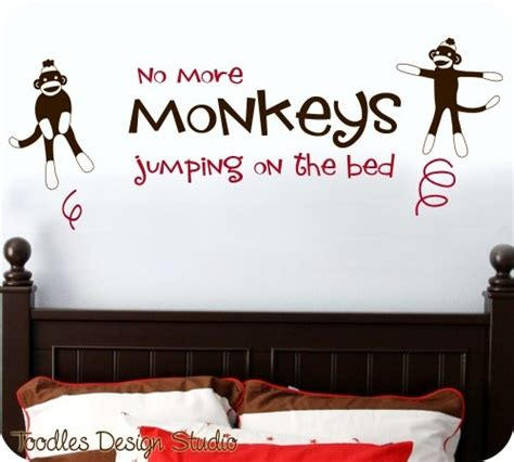 no more monkeys jumping on the bed wall art 17 best images about sock monkeys on pinterest vintage