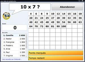 jeux tables de multiplication les journ 233 es sont trop