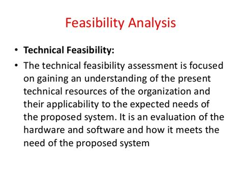 technical feasibility report sle feasibility report
