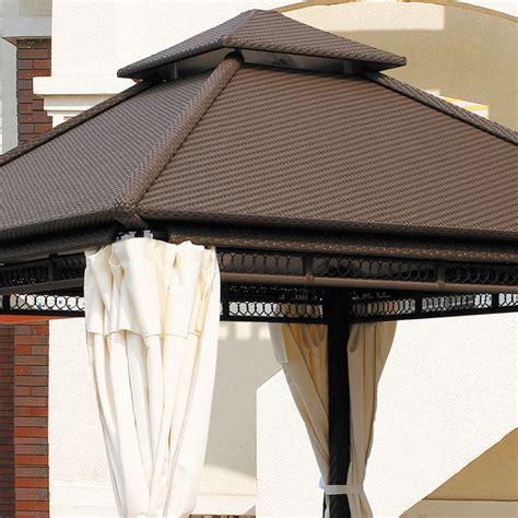 rattan pavillon luxury rattan gazebo