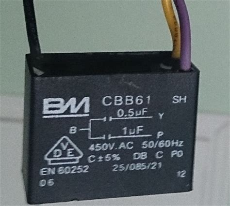 que es un capacitor para ventilador dudas por conexion de cables de ventilador de techos yoreparo