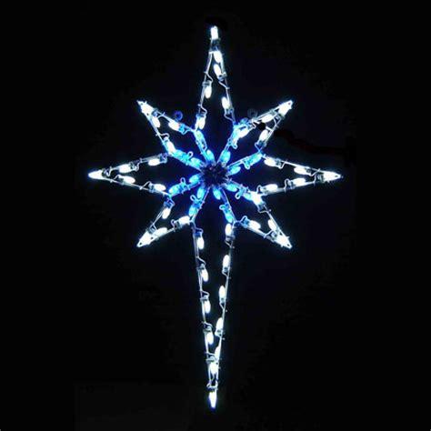 led star of bethlehem 4.8' blue & white