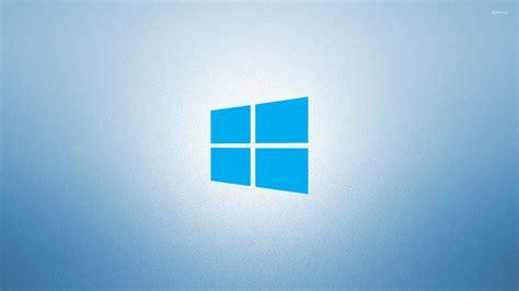 wallpaper windows 10 blue windows 10 on light blue simple blue logo wallpaper
