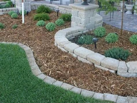 stone flower bed border stone edging complete beautiful landscape of yard