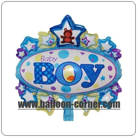 Balon Foil Baby Boy Baby balon foil oval baby boy mini foil oval baby mini