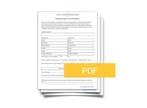 client questionnaire template capella kincheloe