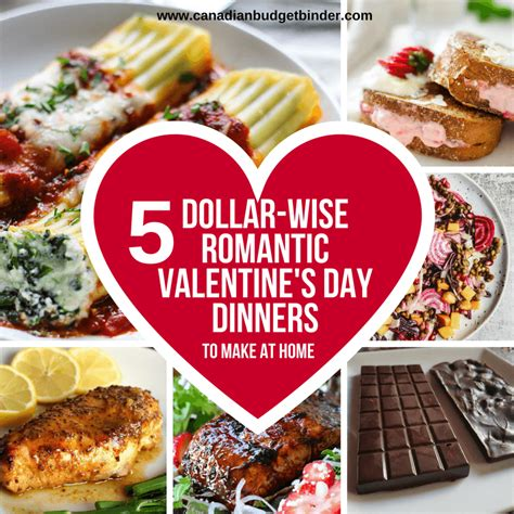 dollar wise romantic valentines day dinner ideas