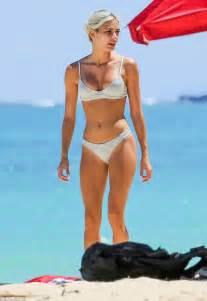 Baby Room Design pia mia sizzles in silver bikini on hawaiian holiday