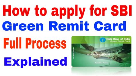 Green Card For Mba Students by Sbi Green Remit Card Application Form Infocard Co