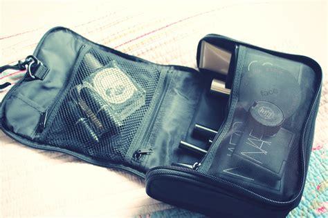 inside my travel makeup bag pebbles