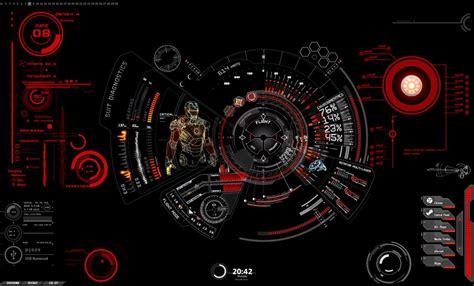 themes clock red rainmeter iron man theme by raikufordrace on deviantart