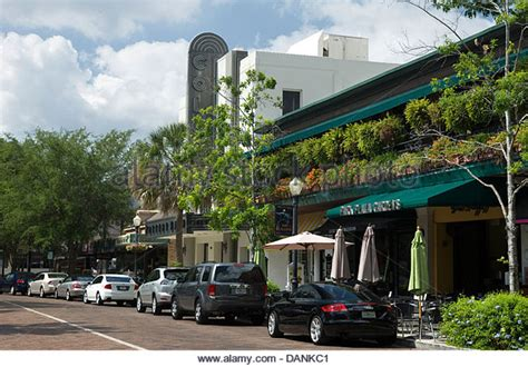 park avenue winter park winter park orlando florida stock photos winter park