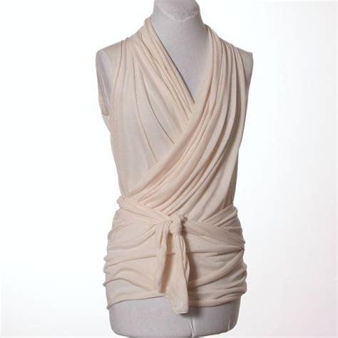 Wrap Hem Pullover Dress convertible sleeveless wrap top ivory style